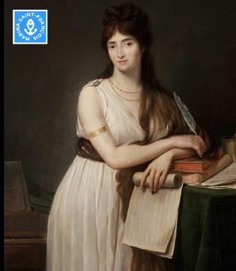 Lady Hamilton peinte à Rome en 1791 par Guillaume LETHIERE, peintre né à SAINTE-ANNE