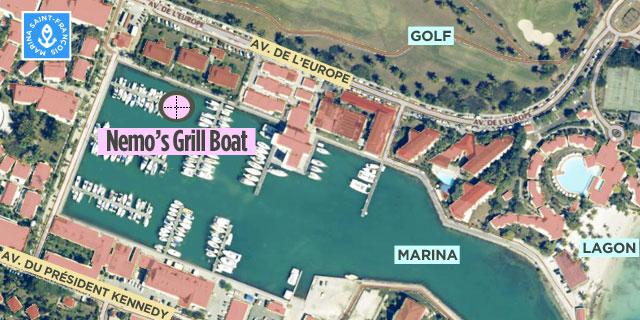 carte nemo's Grill boat Saint-François