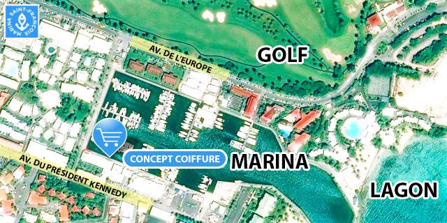 carte Concept Coiffure Marina Saint François