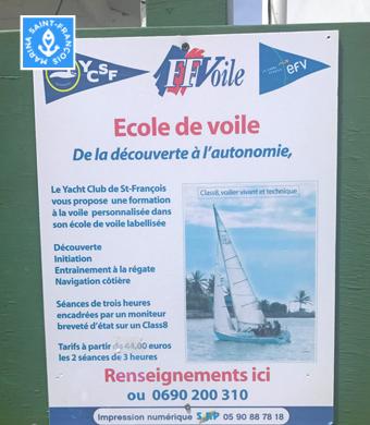 École de voile YCSF - Marina Saint-François - Guadeloupe