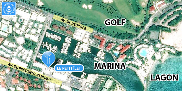 carte Le Petit Ilet Marina Saint François