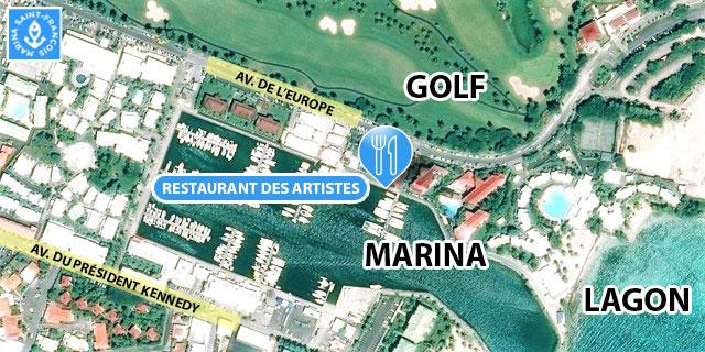 carte Le restaurant des artistes Marina Saint François