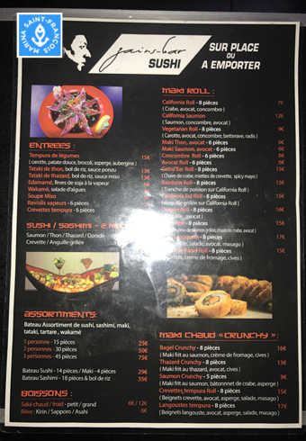 Le Sushi bar - Marina Saint-François - Guadeloupe