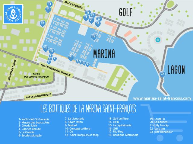 Carte boutiques saint-françois